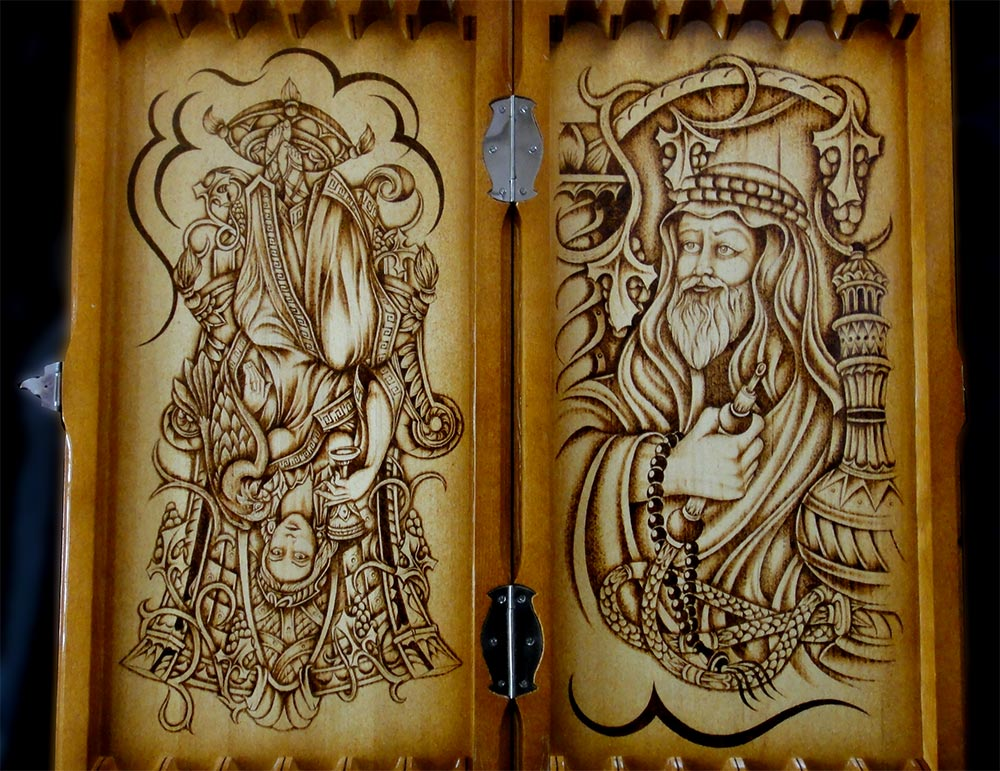 Рисунки на нарды своими руками